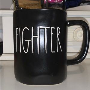 RAE DUNN- Black FIGHTER mug